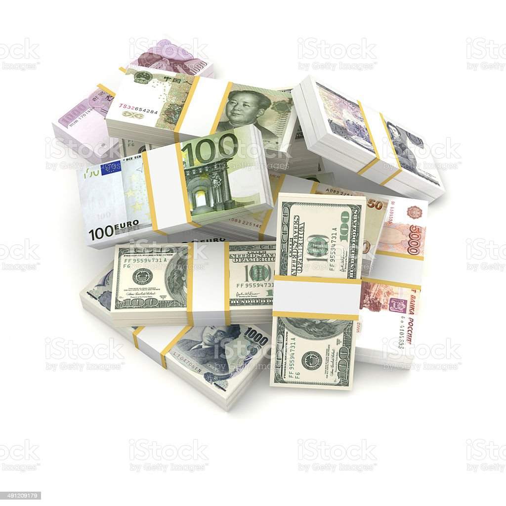 Different currencies. royalty-free stock photo