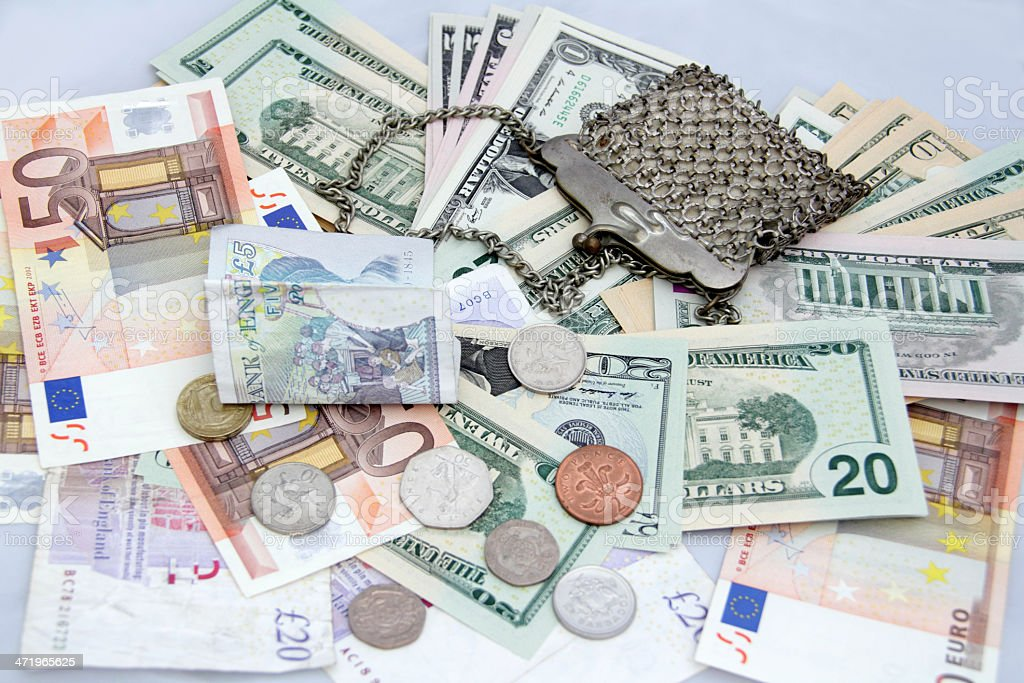 different currency stock photo