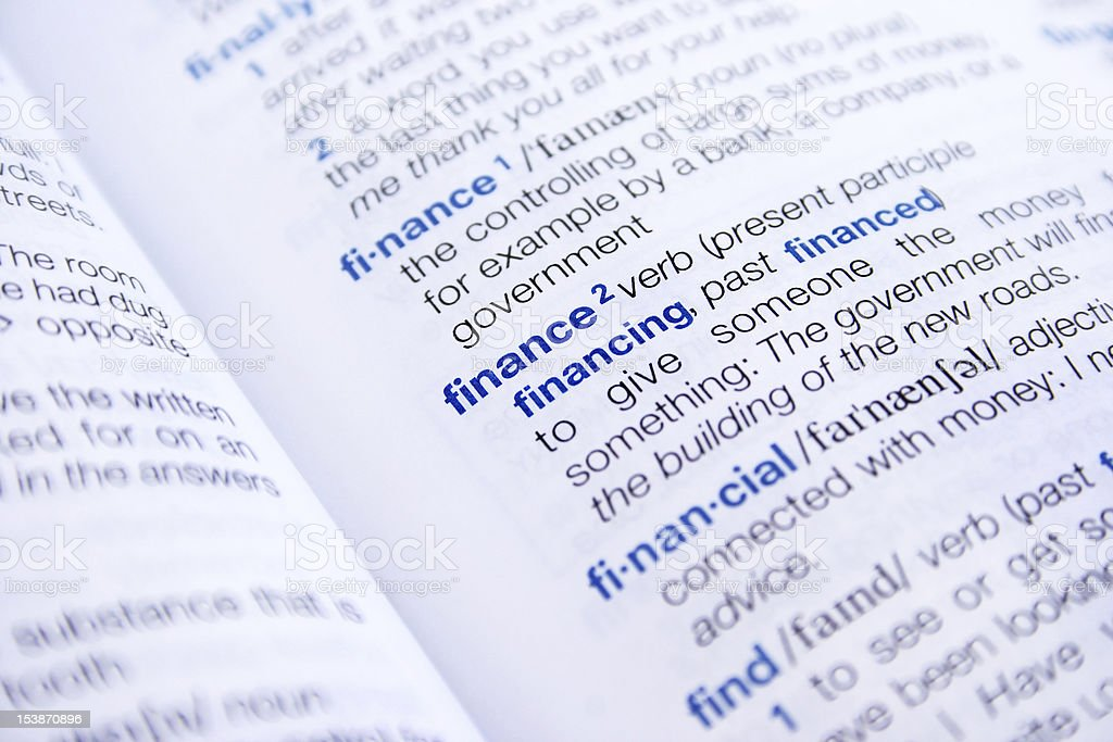 Different definitions related to finance royalty-free stock photo