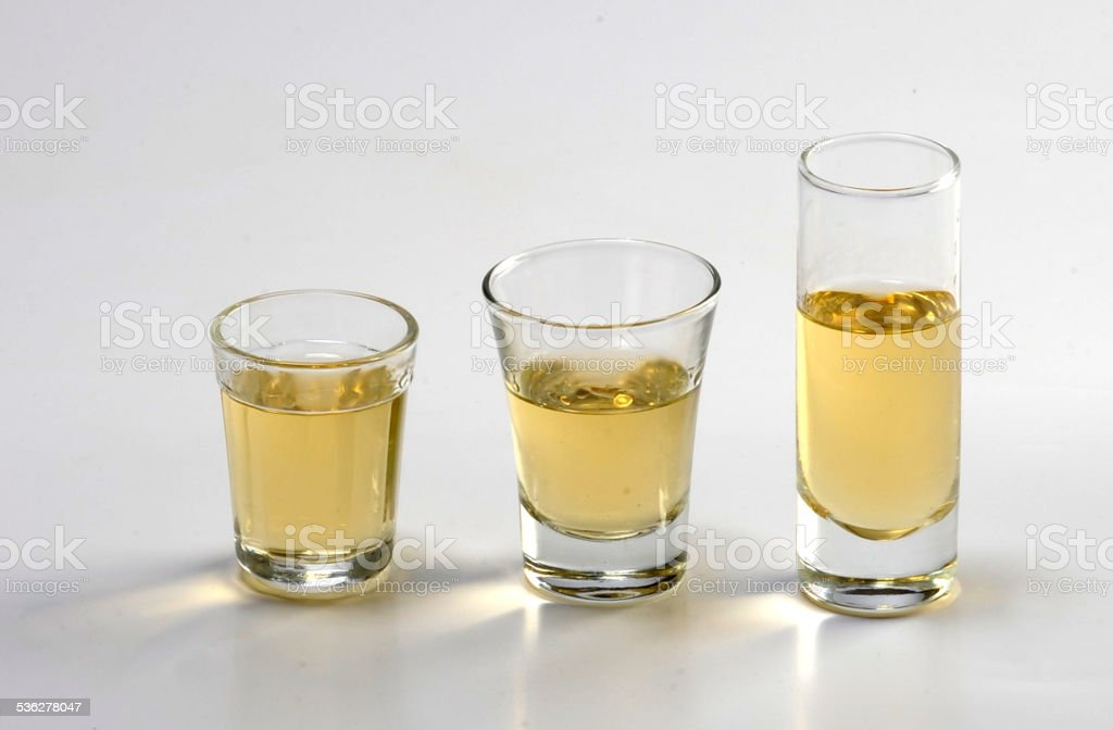 Different Doses Of Cacha?a (Brazilian Drink) stock photo