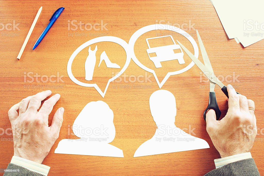 Different dreams of men and women stock photo