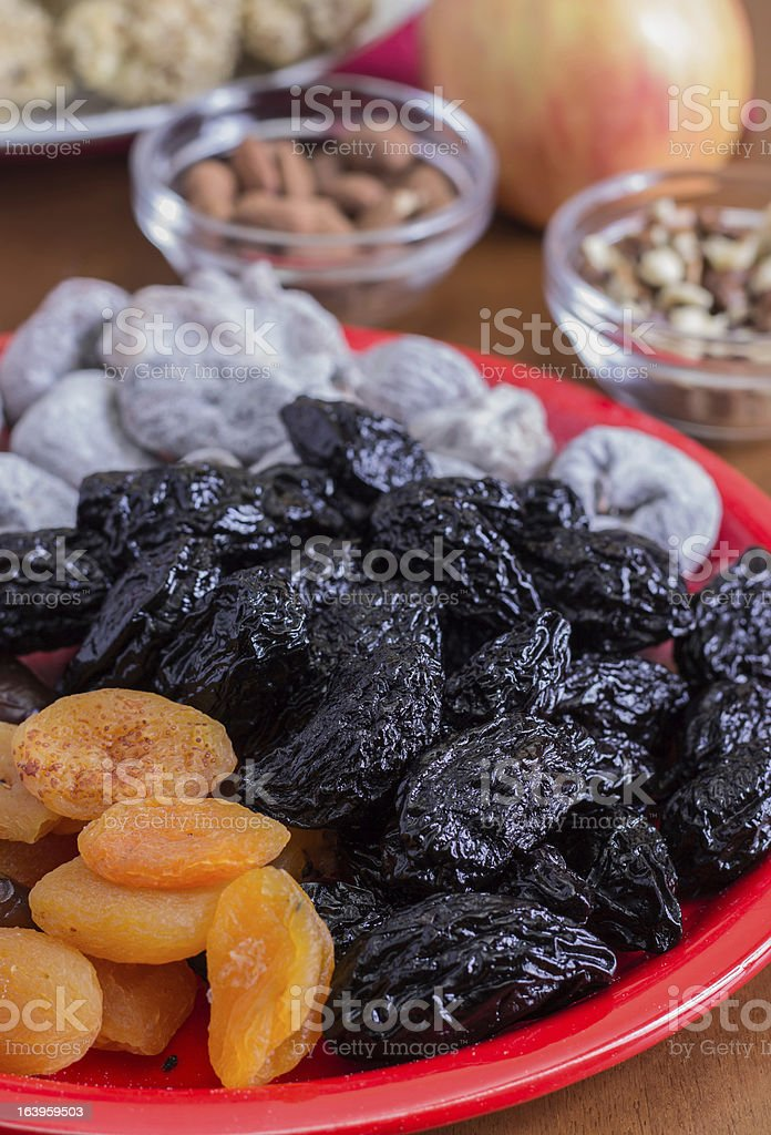 different dried fruits royalty-free stock photo