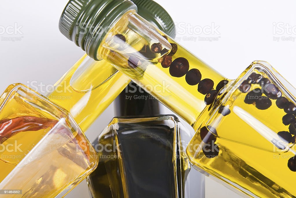 Different edible oils royalty-free stock photo