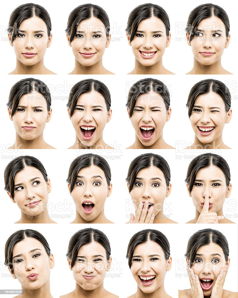 Different expressions stock photo