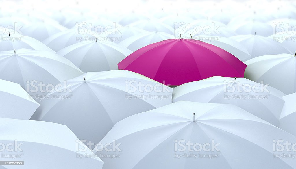 Different fashion umbrella stock photo