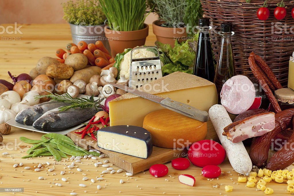 different foodstuff royalty-free stock photo