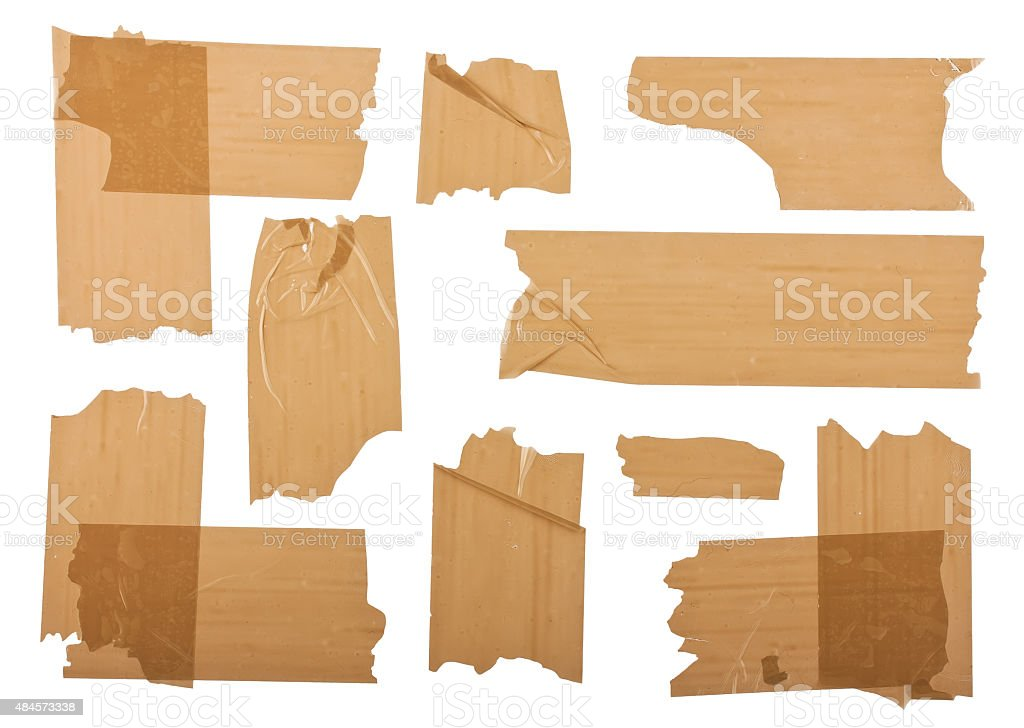 Different fragments of the brown scotch stock photo
