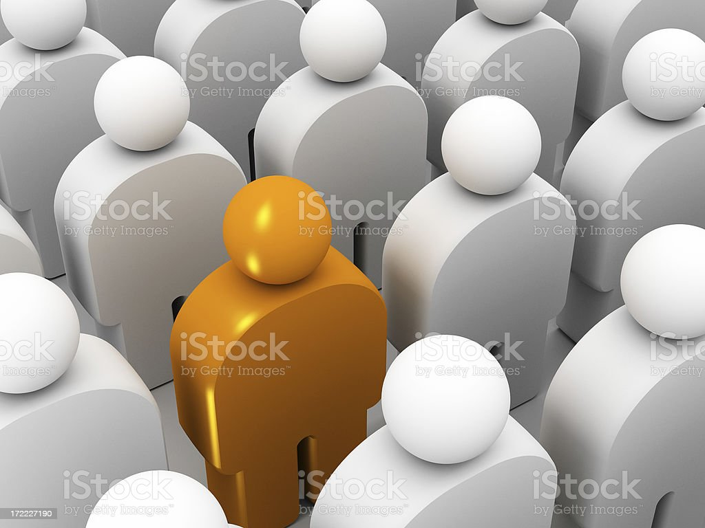 Different from the crowd royalty-free stock photo