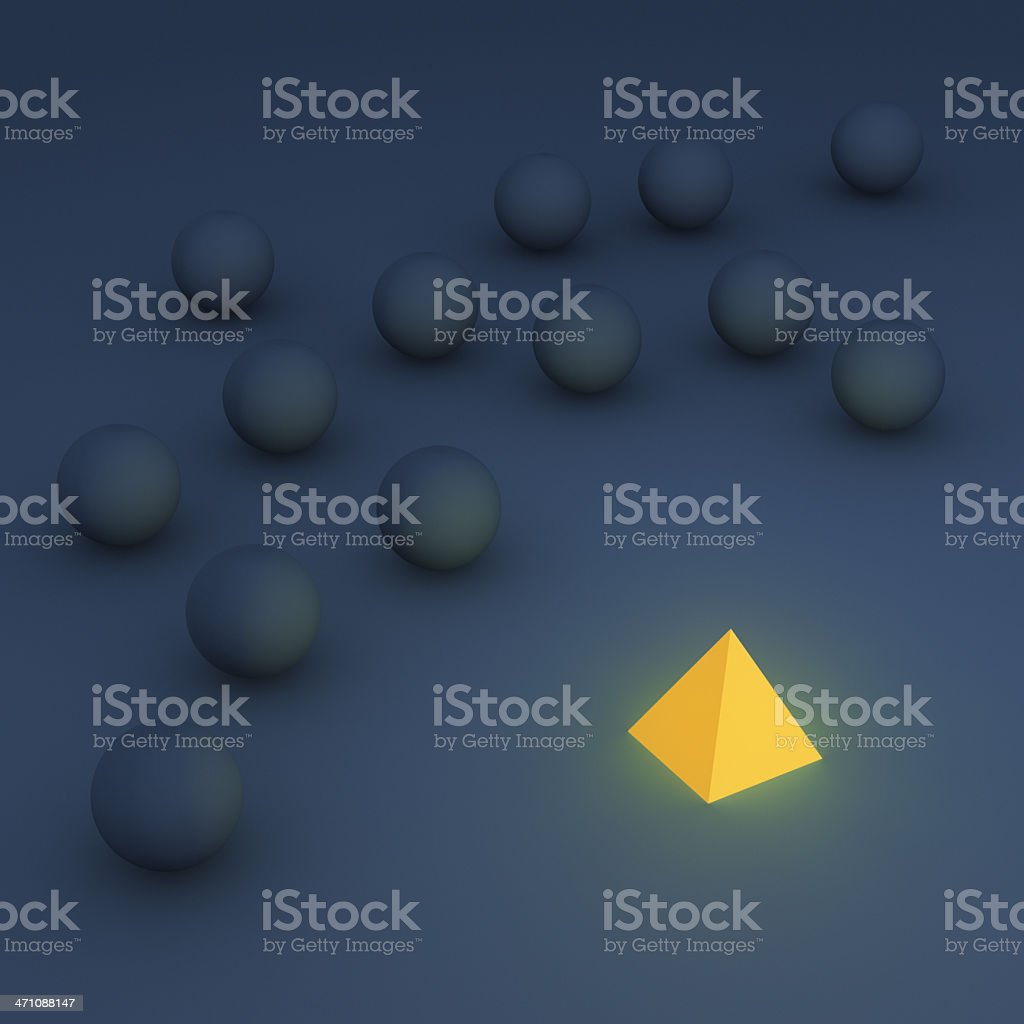 Different from the Crowd XXL royalty-free stock photo