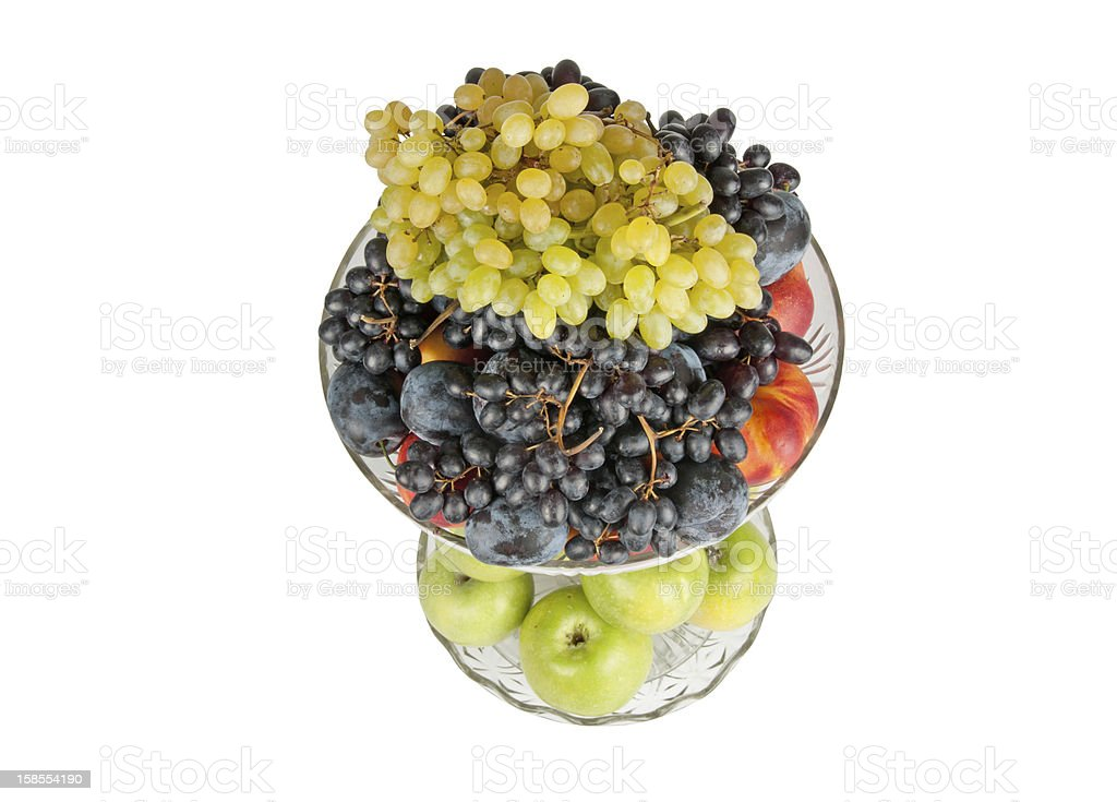 different fruits in vase royalty-free stock photo
