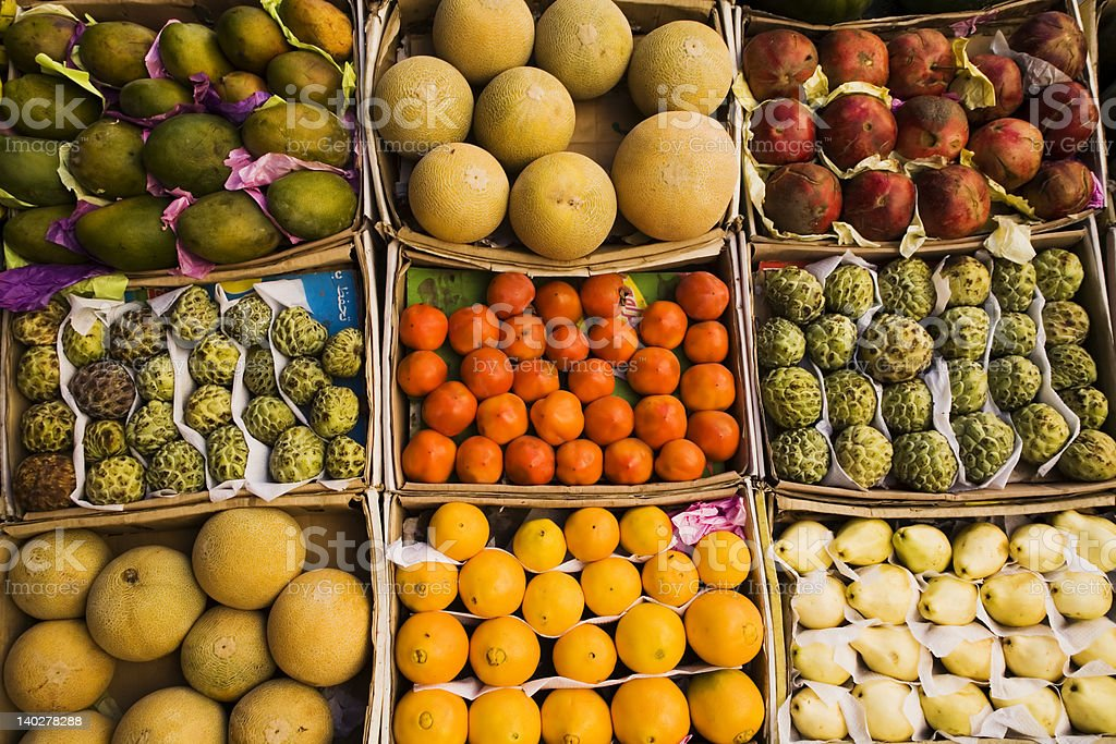 Different fruits royalty-free stock photo