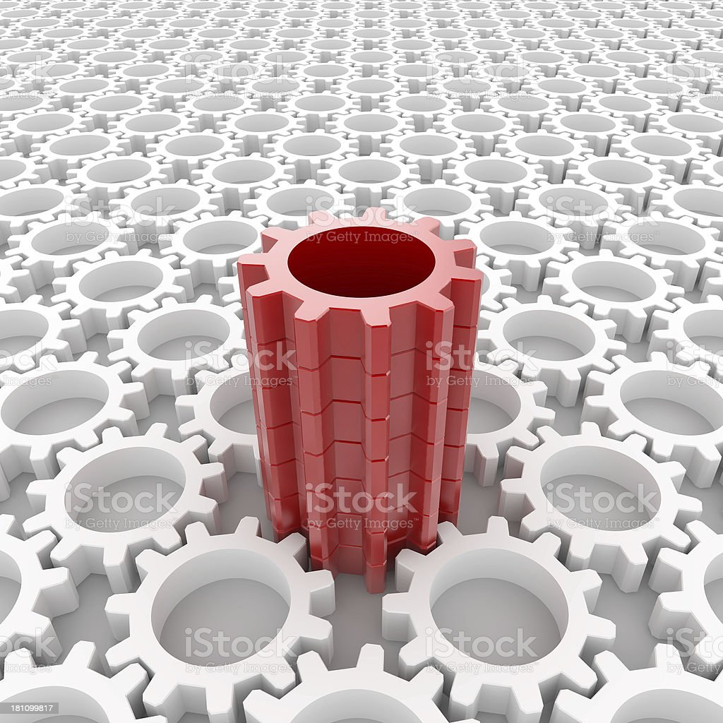 Different gear royalty-free stock photo