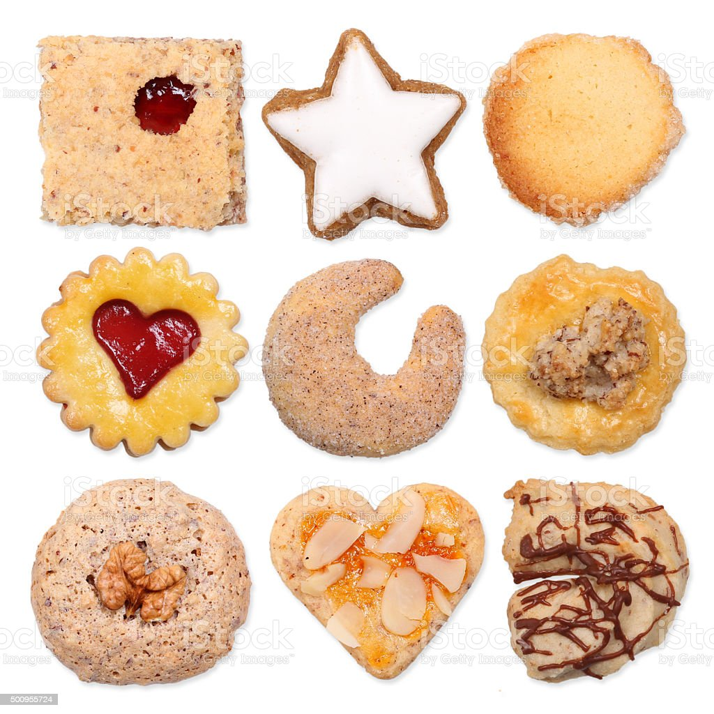 Different german cookies stock photo