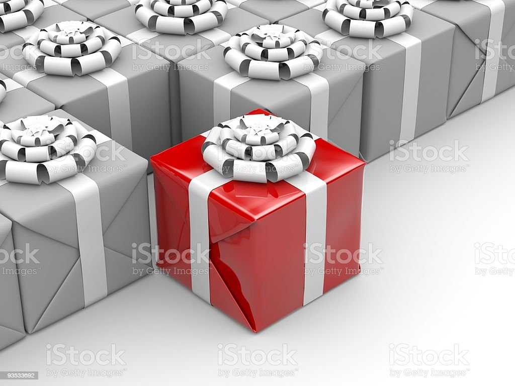 Different gift stock photo