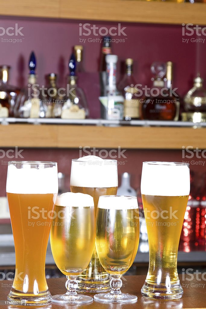 Different glasses of beer royalty-free stock photo