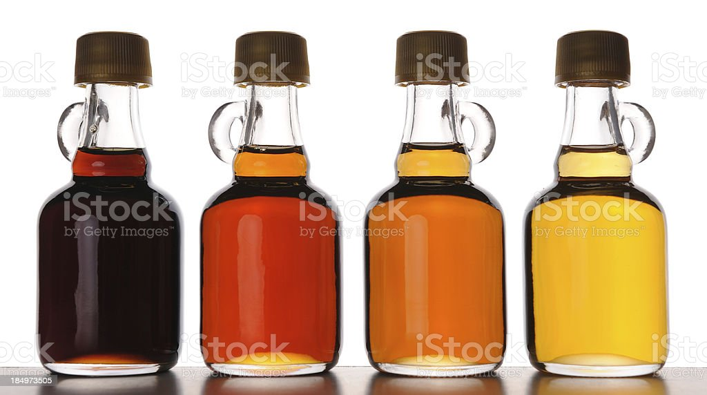 Different Grades of Maple Syrup stock photo