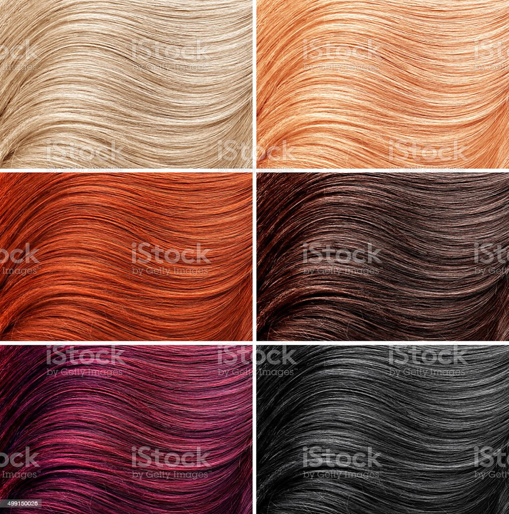 Different hair colors stock photo