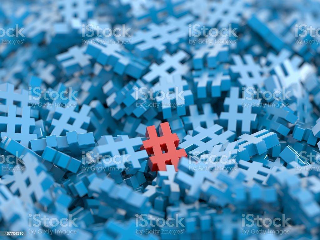 Different Hashtag stock photo