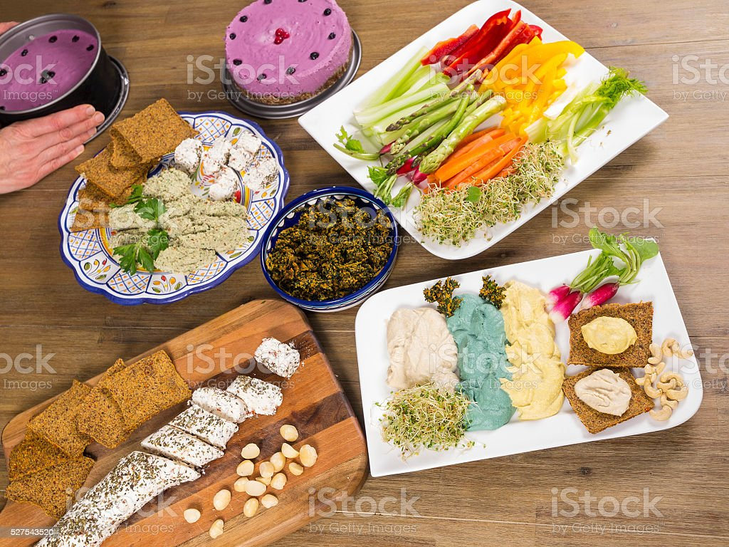 Different healthy Raw good prepared for meal stock photo