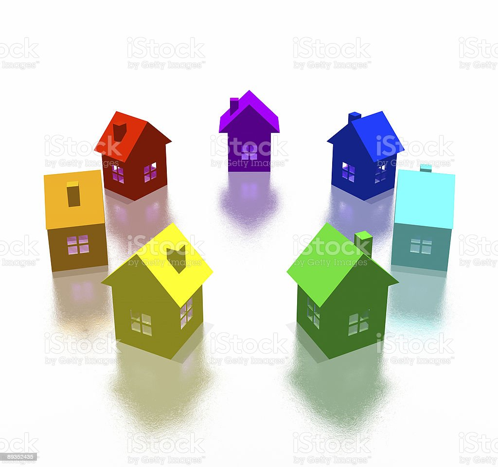 different house stock photo