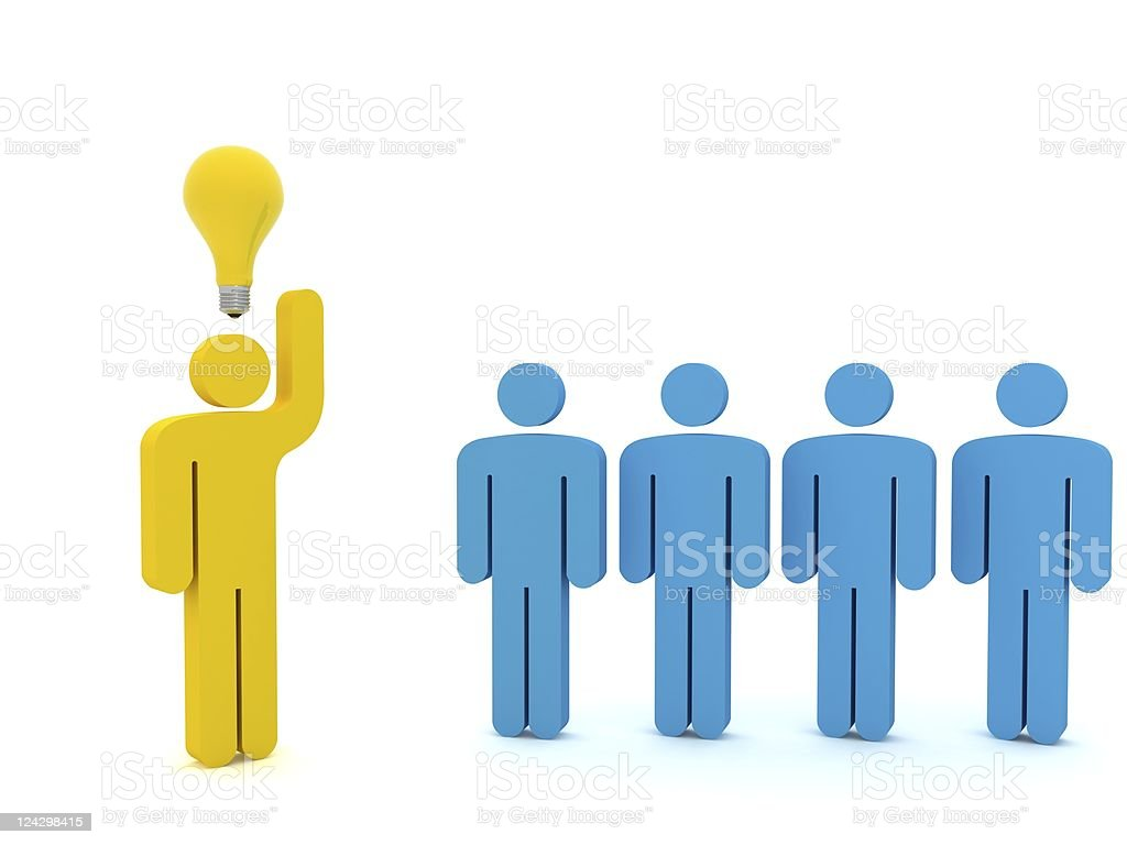 Different Idea Concept royalty-free stock photo