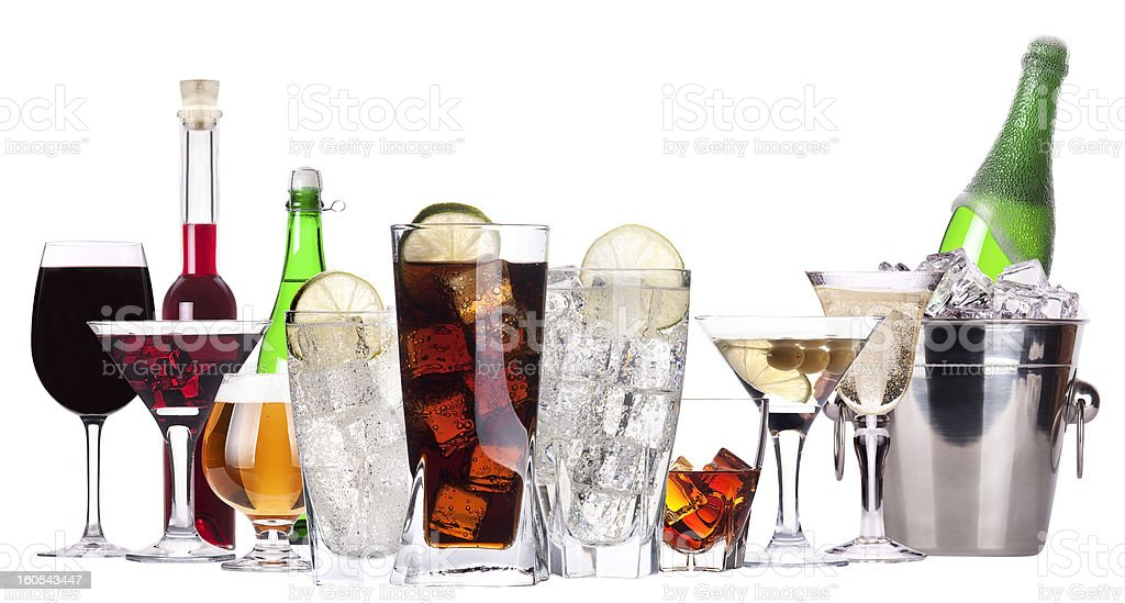 different images of alcohol isolated royalty-free stock photo