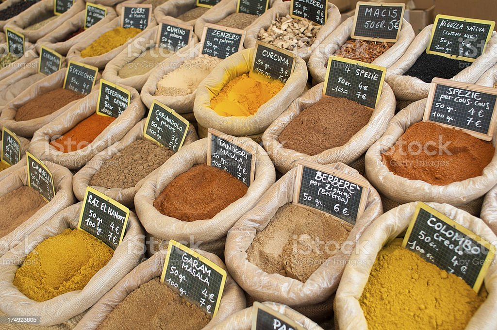 Different Kind of Spices stock photo