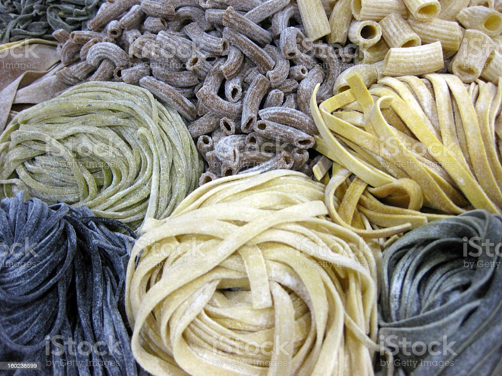 Different Kinds of Pasta stock photo
