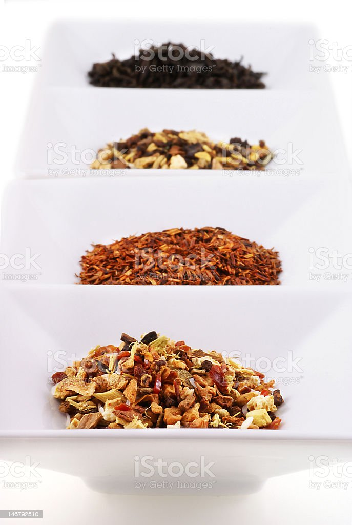 Different kinds of tea. stock photo