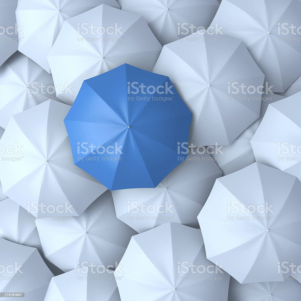 Different, leader, best, unique and discrimination concept stock photo