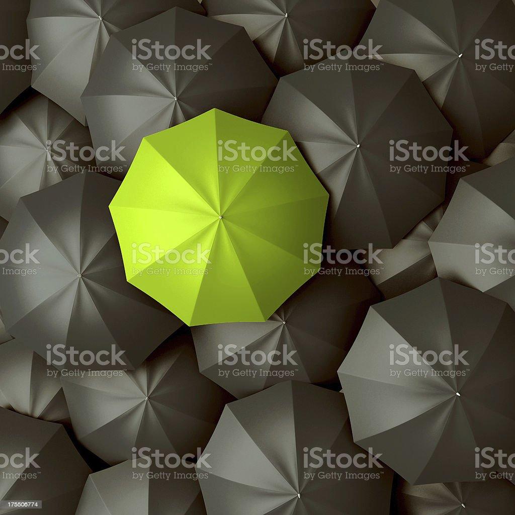 Different, leader, best, unique and discrimination concept stock photo