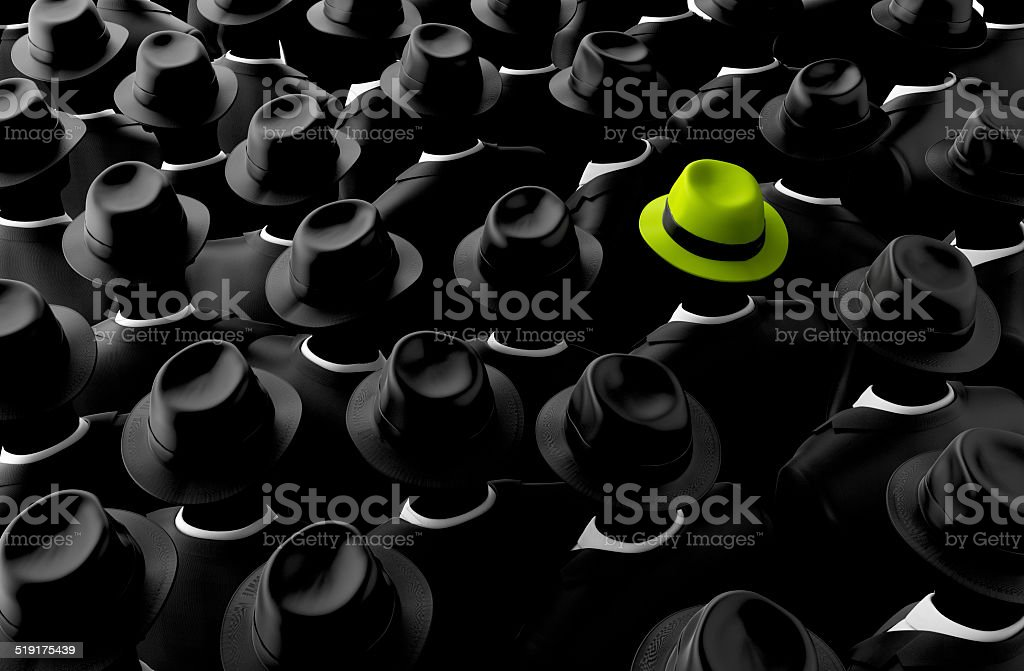 Different, leader, best, unique, boss, individuality, original, special concept stock photo