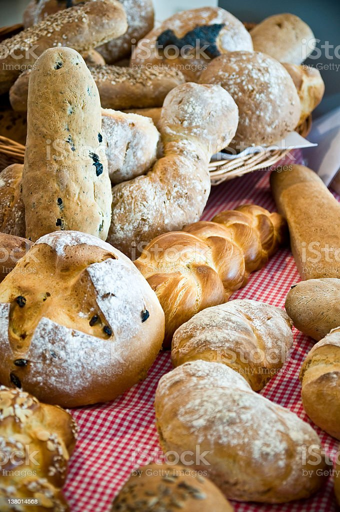different loaf of bread stock photo