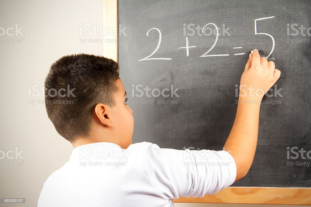 Different Math Formula On The Board stock photo