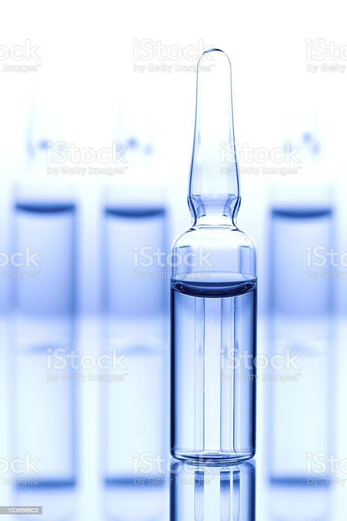 Different medical ampoules royalty-free stock photo