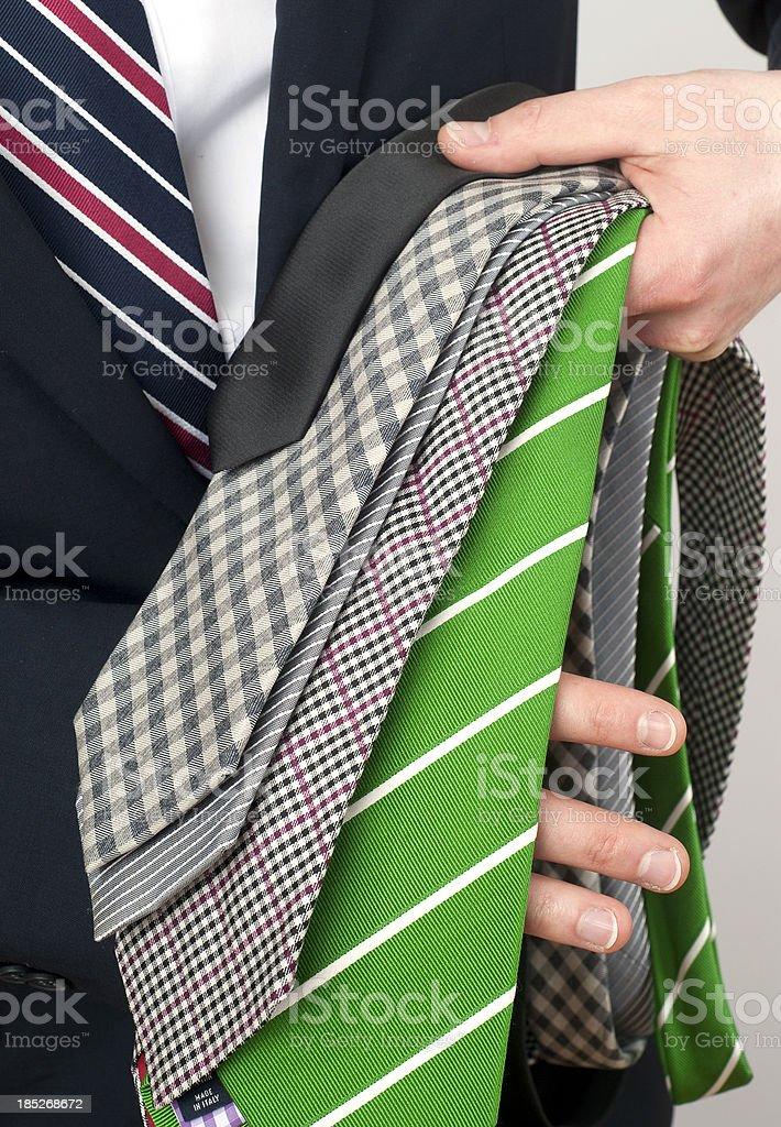 different neckties royalty-free stock photo