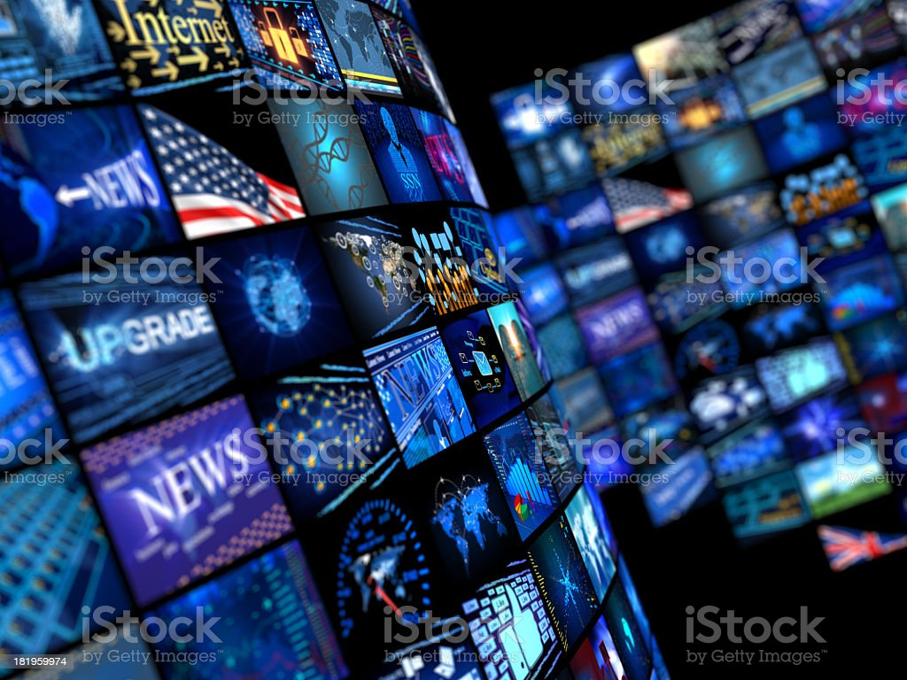 Different news media computer Icons royalty-free stock photo