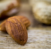 Different nuts closeup