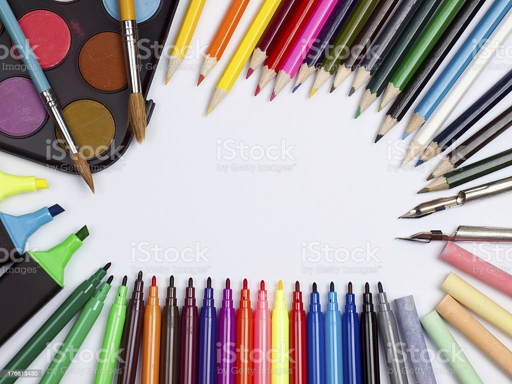 different objects for drawing royalty-free stock photo