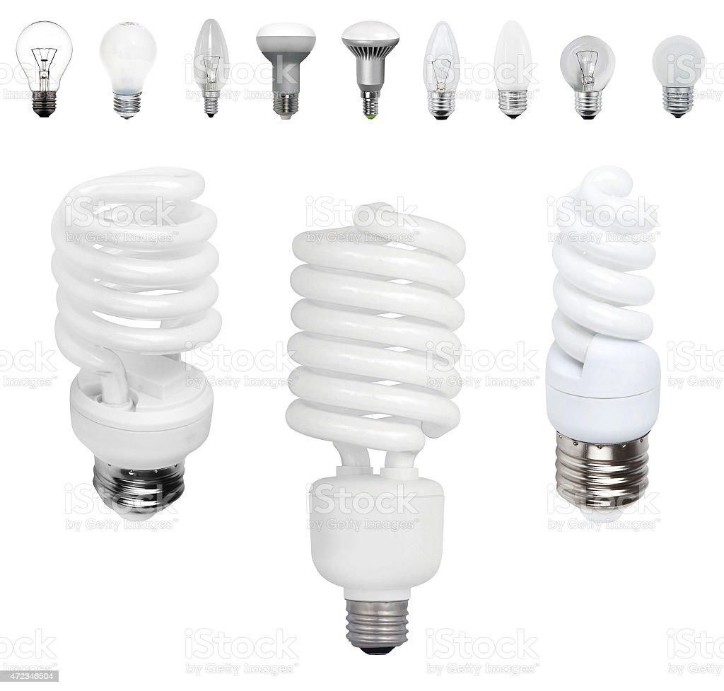 diferentes tipos de lmparas antigua y moderna de bombillas foto de stock libre de derechos