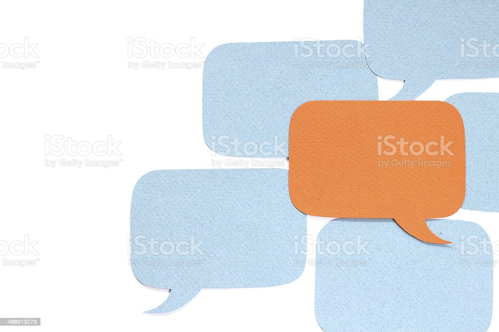 Different opinion concept stock photo