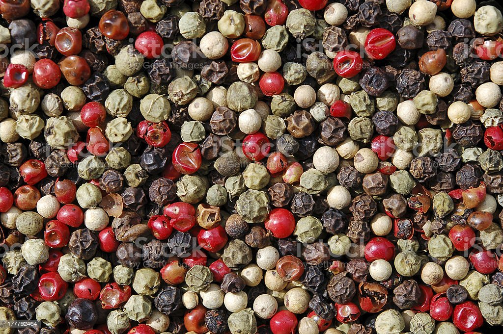 Different pepper seeds royalty-free stock photo