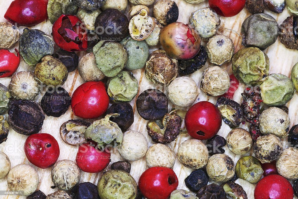 different peppercorns close up royalty-free stock photo