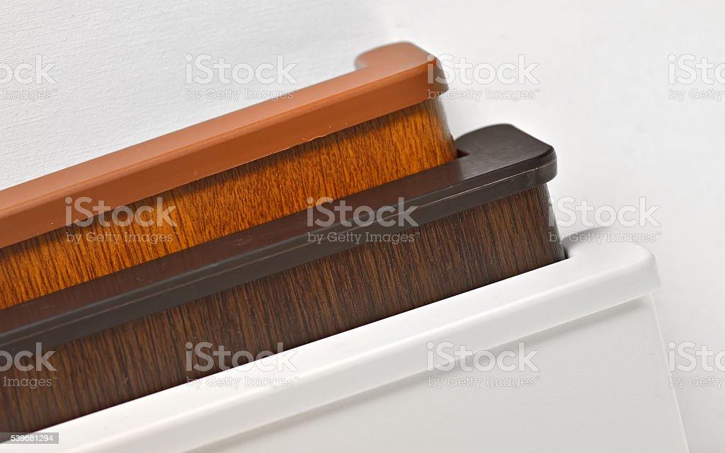 Different  PVC window sill stock photo