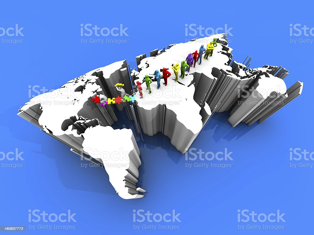 Different Races Who Migrated to America stock photo