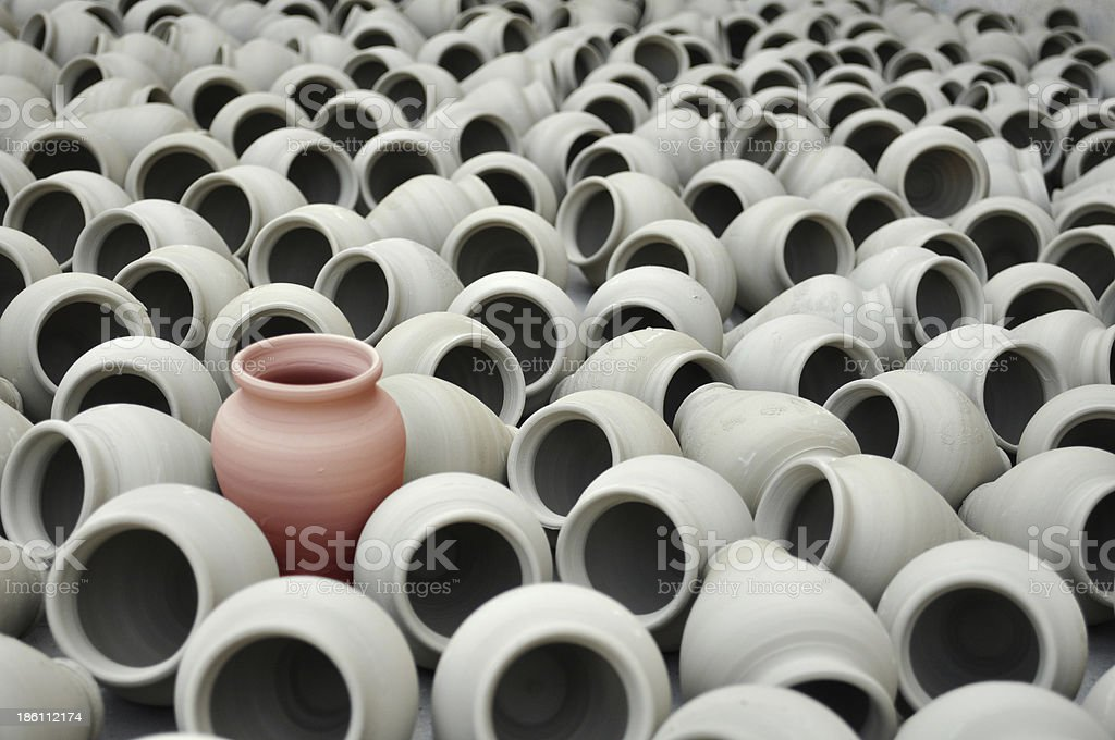 Different, red pot royalty-free stock photo