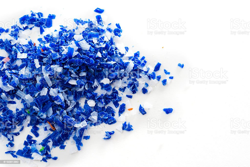Different regrind polymers stock photo
