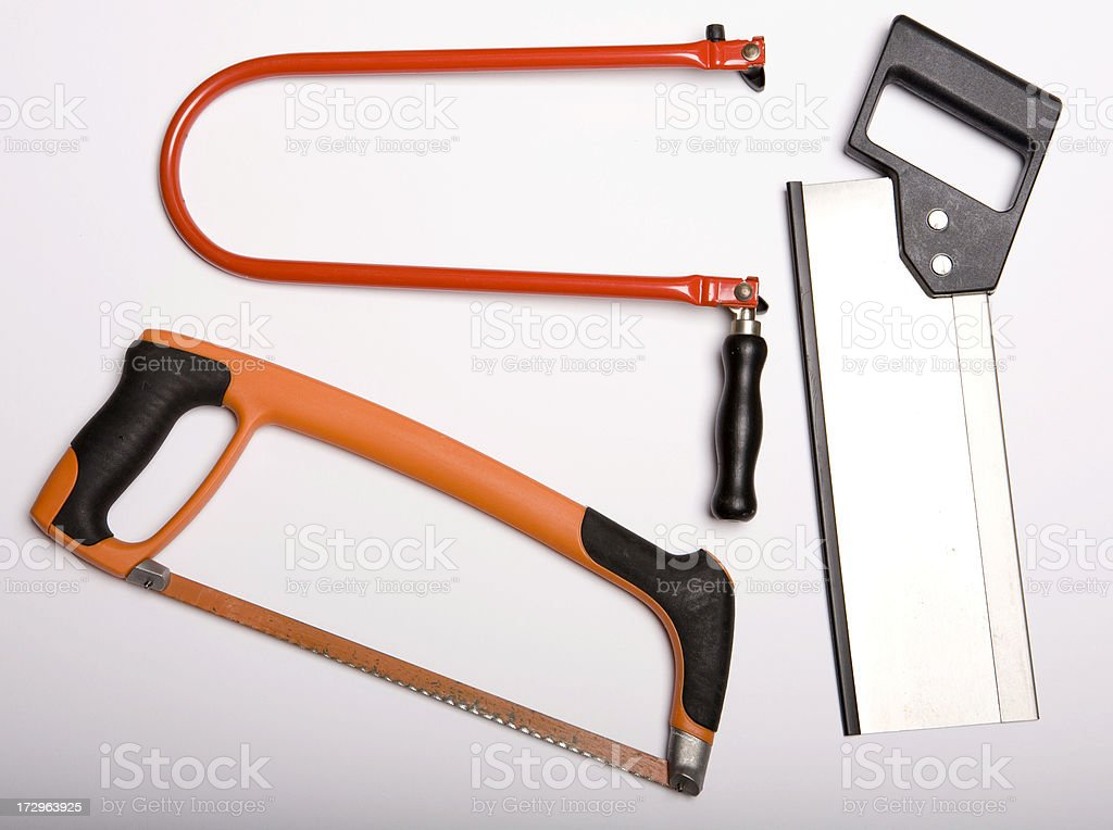 different saws stock photo