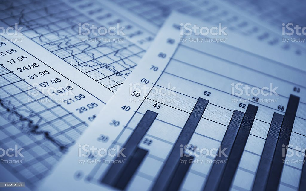 Different set of graphs showing profit and loss royalty-free stock photo