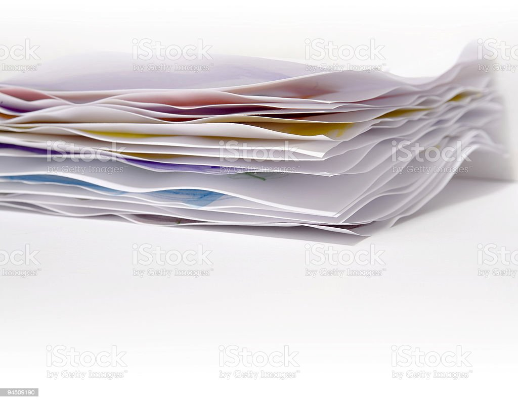 Different sheets of paper royalty-free stock photo